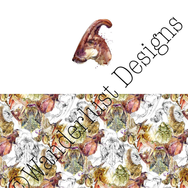 Duck Billed Dinosaur Diaper Panels - Summer 2020 Reprints
