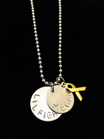 Hand Stamped Personalized Mens Stainless Steel Megan Necklace