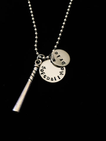 Hand Stamped Personalized Stainless Steel Sports Mom Necklace