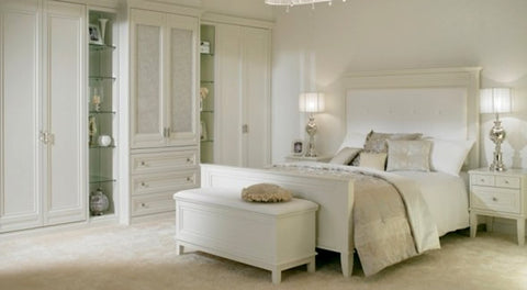Decorating with Color: White Bedroom