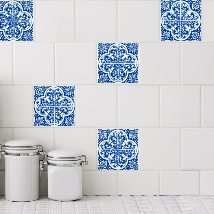 Mosaic Azul Quattro Tile Decals - StickPretty