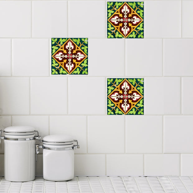 Mosaic Jardin Tile Decals - StickPretty