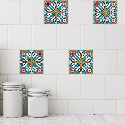 Mosaic Ramblas Tile Decals - StickPretty