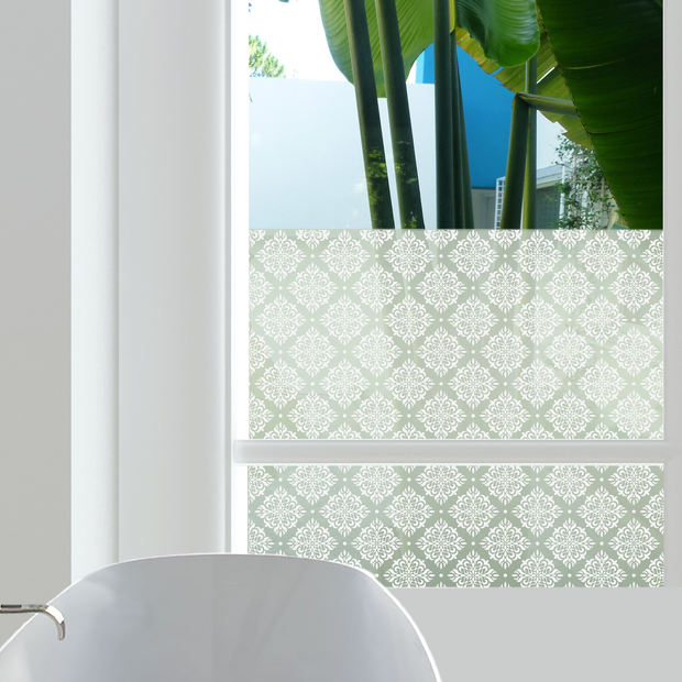 Damask Privacy Window Film - For Home Window Tinting - StickPretty