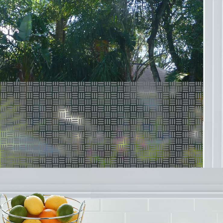 Egyptian Weave Privacy Window Film — Home Window Tinting - StickPretty