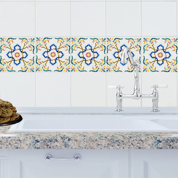 Mosaic Salamanca Tile Decals - StickPretty