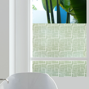 Retro Squares Privacy Window Film — For Home Window Tinting - StickPretty