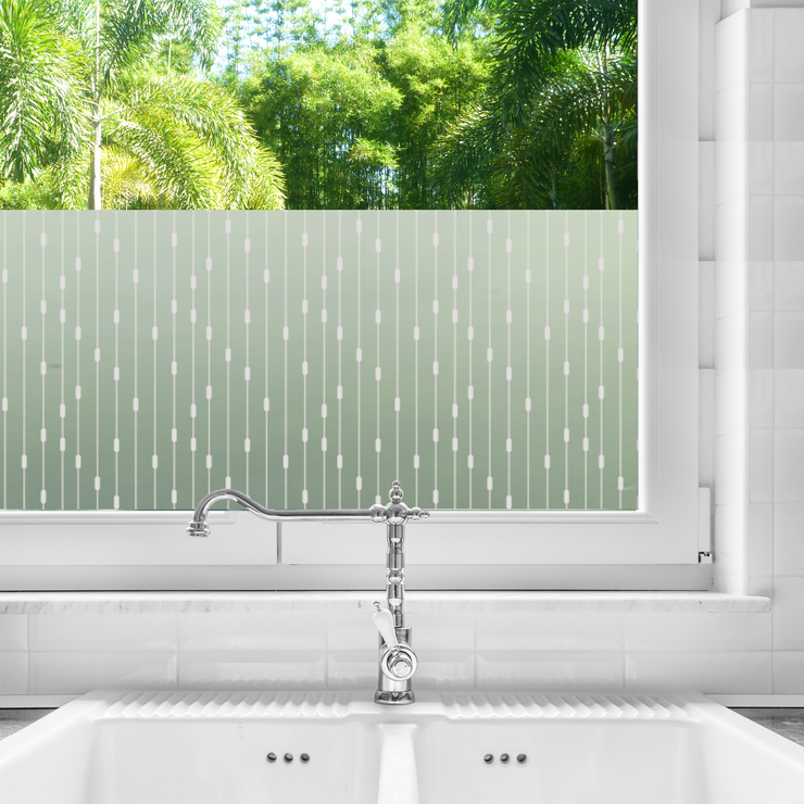Rhythm Privacy Window Film — For Home Window Tinting - StickPretty