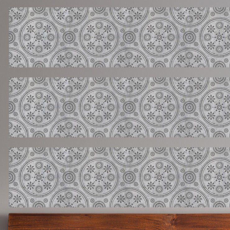 Retro Daisies Mosaic Panel Wall Decals - StickPretty
