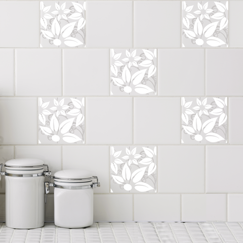 Hibiscus Tile Decals