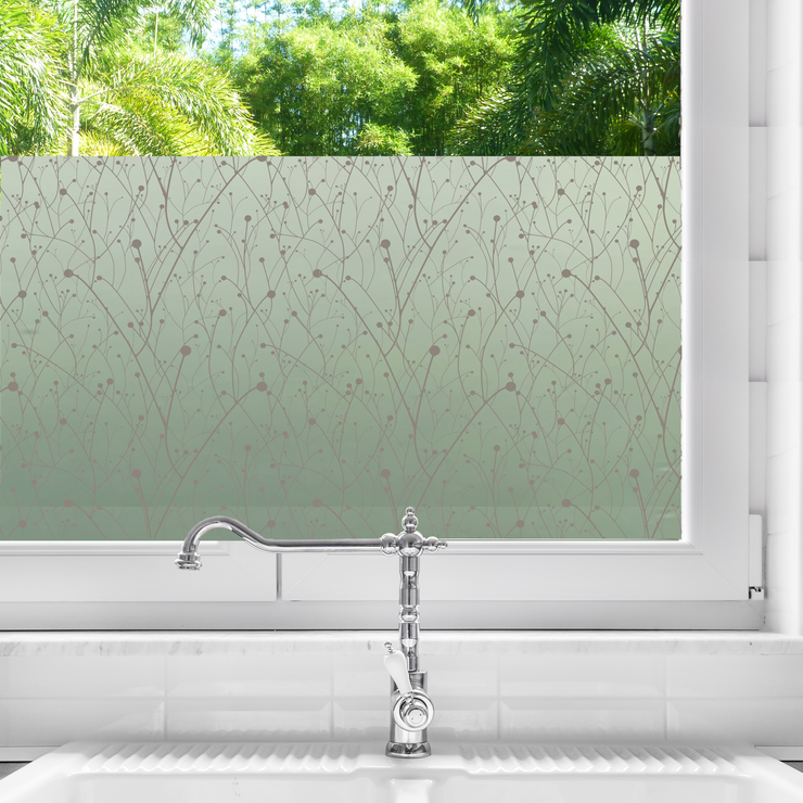 Willow Privacy Window Film — For Home Window Tinting - StickPretty
