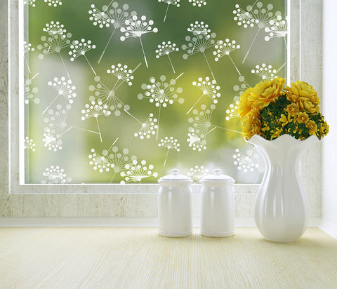 Dandelion Privacy Window Film - Adhesive - StickPretty