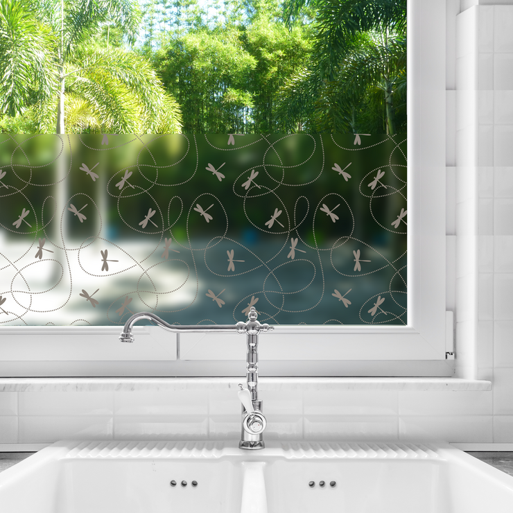 Dragonflies Privacy Window Film — Home Window Tinting - StickPretty