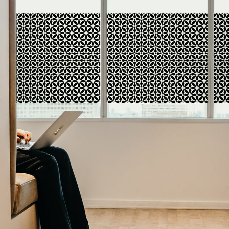 Allstar Privacy Window Film in Black—Best Home Window Tinting - StickPretty