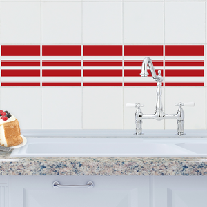 Simple Stripe Tile Decals
