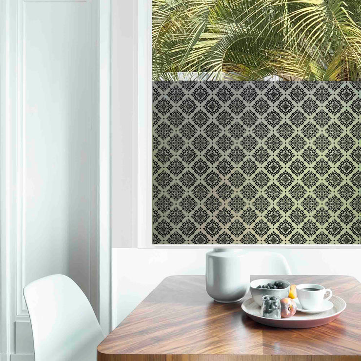 Damask Privacy Window Film - For Home Window Tinting