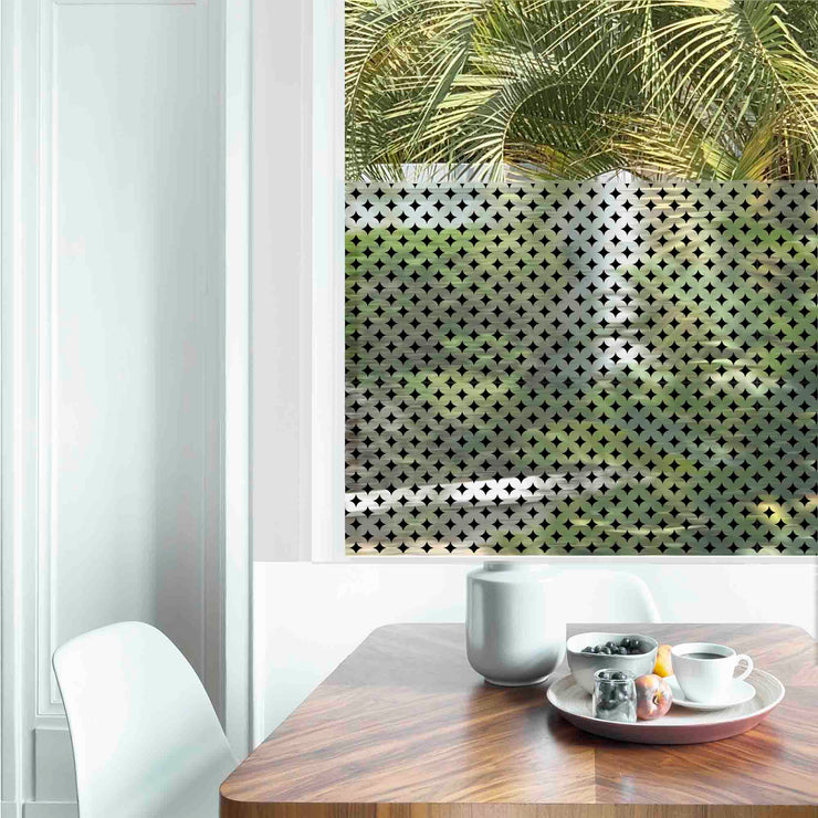 Diamonds Privacy Window Film — For Home Window Tinting