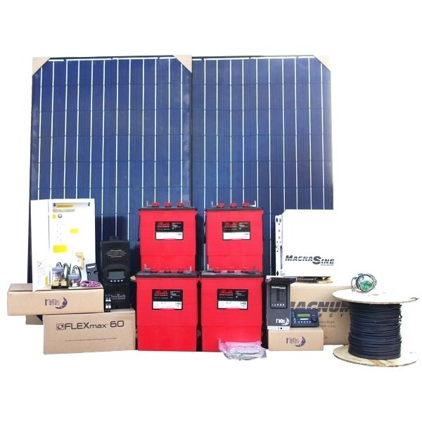 Solar Panel Battery Bank >> Sec Off Grid Hybrid Solar System 3kw With 16kw Battery Bank Solar