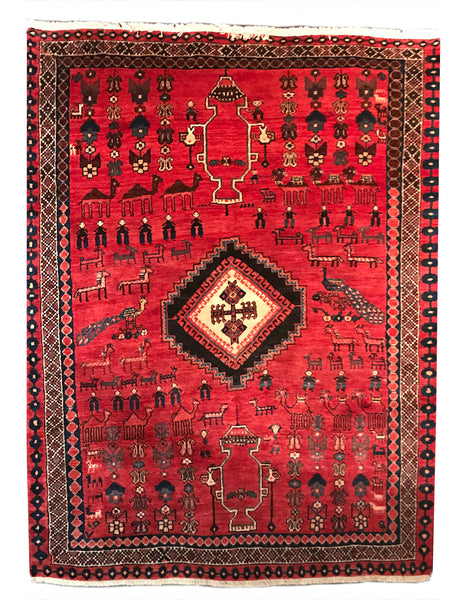 Nomadic Persian Afshar Rug from THE HANDMADE RUG COMPANY