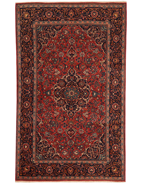 Antique Kashan - 210cm x 132cm (6'11 x 4'4) - Antique Rugs - HANDMADE RUG COMPANY