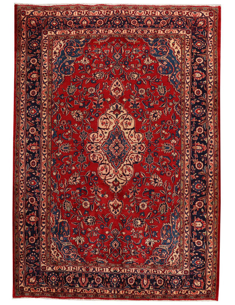 Fine Old Sarough - 325cm x 218cm (10'2 x 7'2) - Antique rugs - Handmade rug company