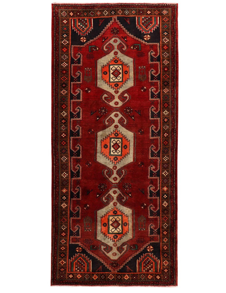 OLD HAMADAN - 300cm x 132cm (9'10 x 4'4) - OLD AND ANTIQUE RUGS - HANDMADE RUG COMPANY