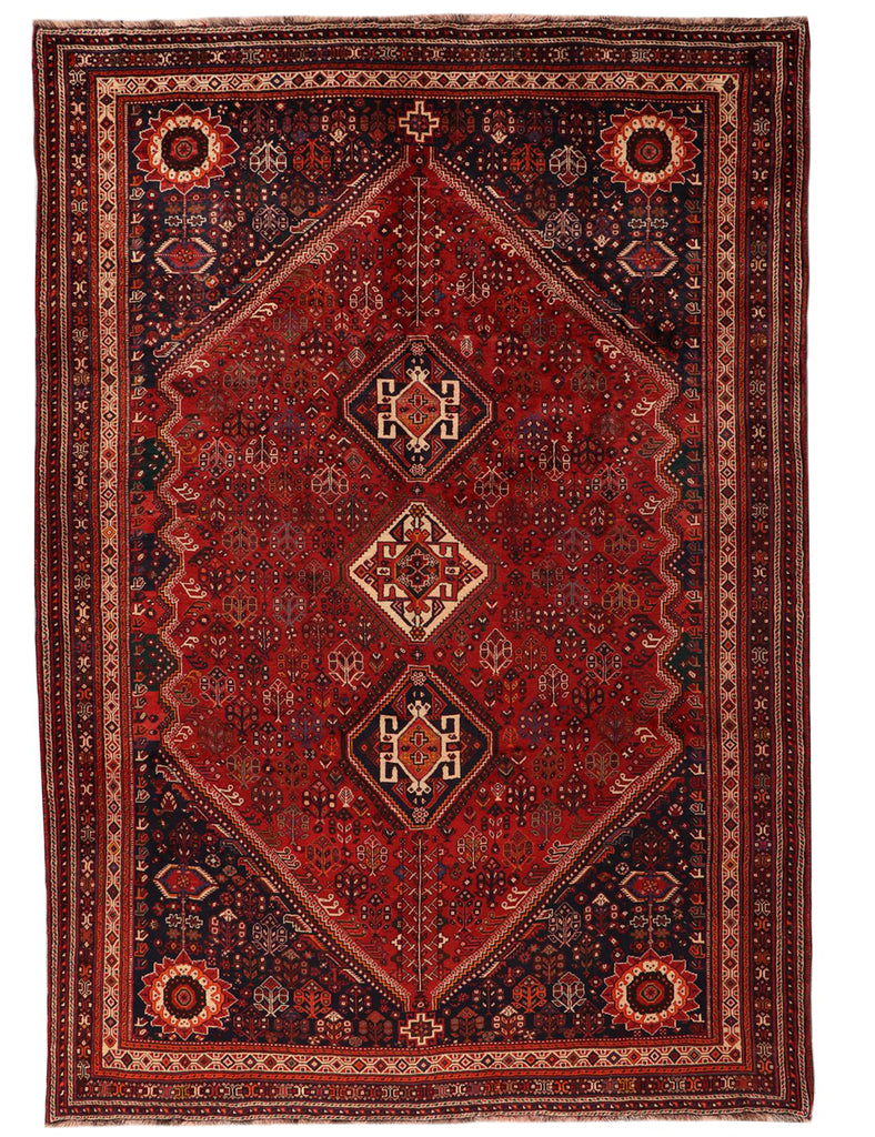 Large Qashqai Rug - 324cm X 222cm (10-8ft x 7-4ft) - Tribal and nomadic rugs - HANDMADE RUG COMAPNY