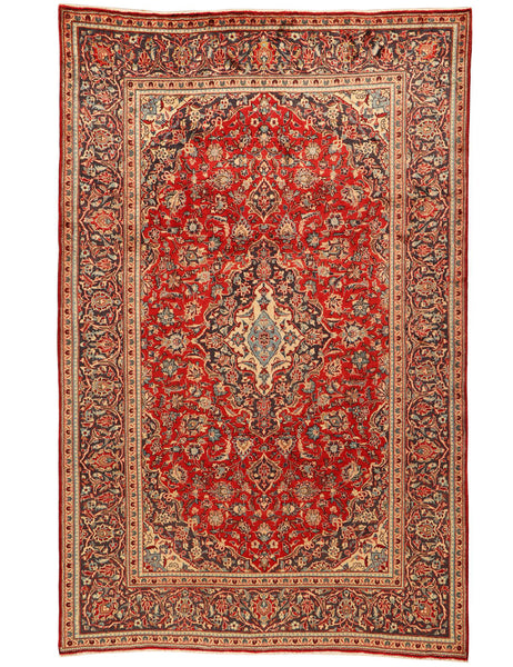 Old Kashan - 322cm x 201cm (10'7 x 6'7) - Old and Antique Rugs - HANDMADE RUG COMPANY