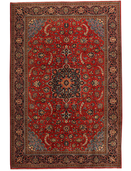 Fine Old Sarough - 339cm x 220cm (11'2 x 7'3) - Antique Rugs - HANDMADE RUG COMPANY