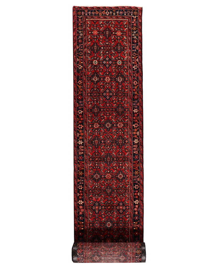 Long Hossienabad Runner - 508cm x 76cm (16'8- x 2'6) - Long Hall Runner - HANDMADE RUG COMPANY