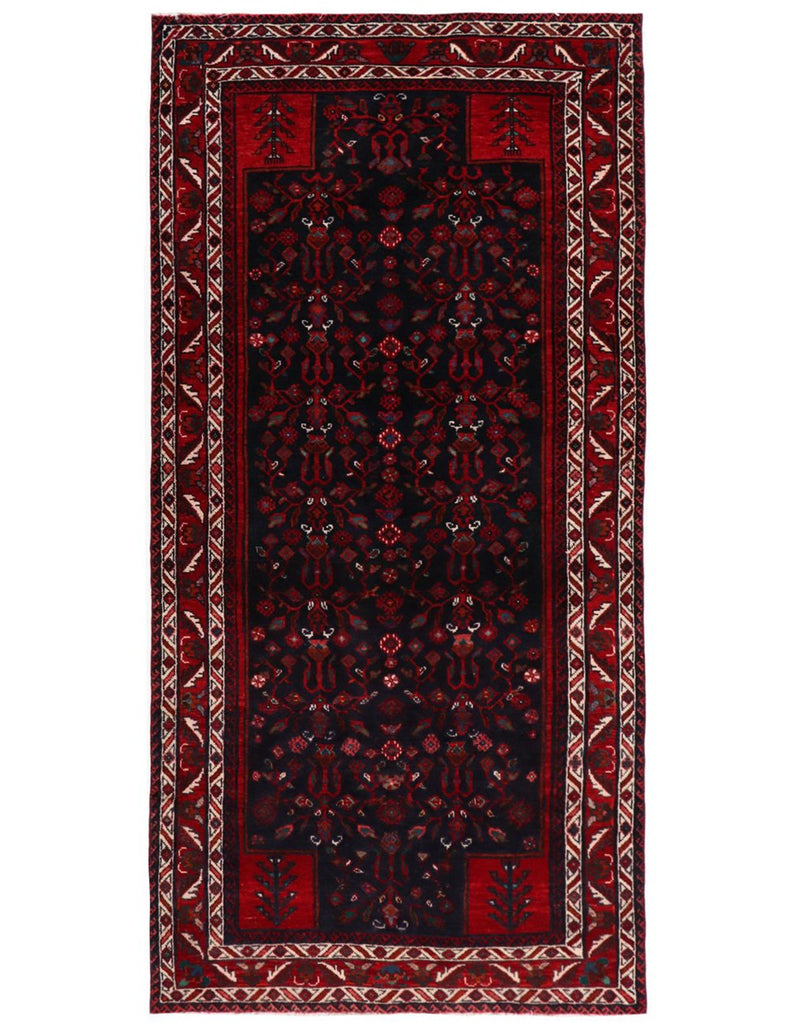 OLD MASHAD - 270cm x 130cm (8'10 x 4'3) - OLD AND ANTIQUE RUGS - HANDMADE RUG COMPANY