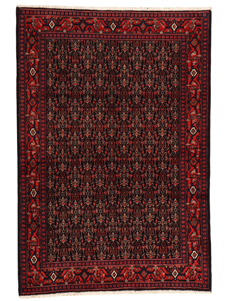 Old Senneh - 180cm x 122cm (6' x 4') - Old and antique rugs - HANDMADE RUG COMPANY