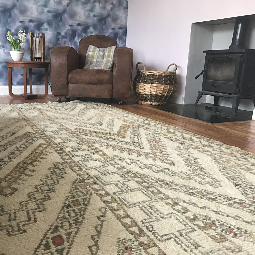 Antique berber rug