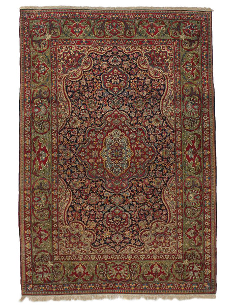 Antique Persian Isfahan - 204cm x 140cm (6'8 x 4'7)