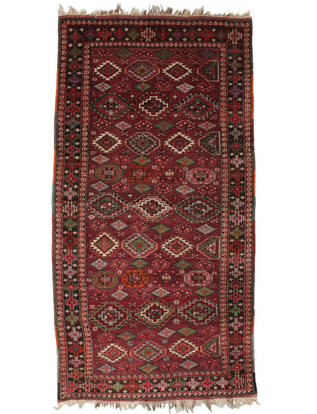 Antique Kurdish Runner 269cm x 136cm (8-8ft x 4-4ft)
