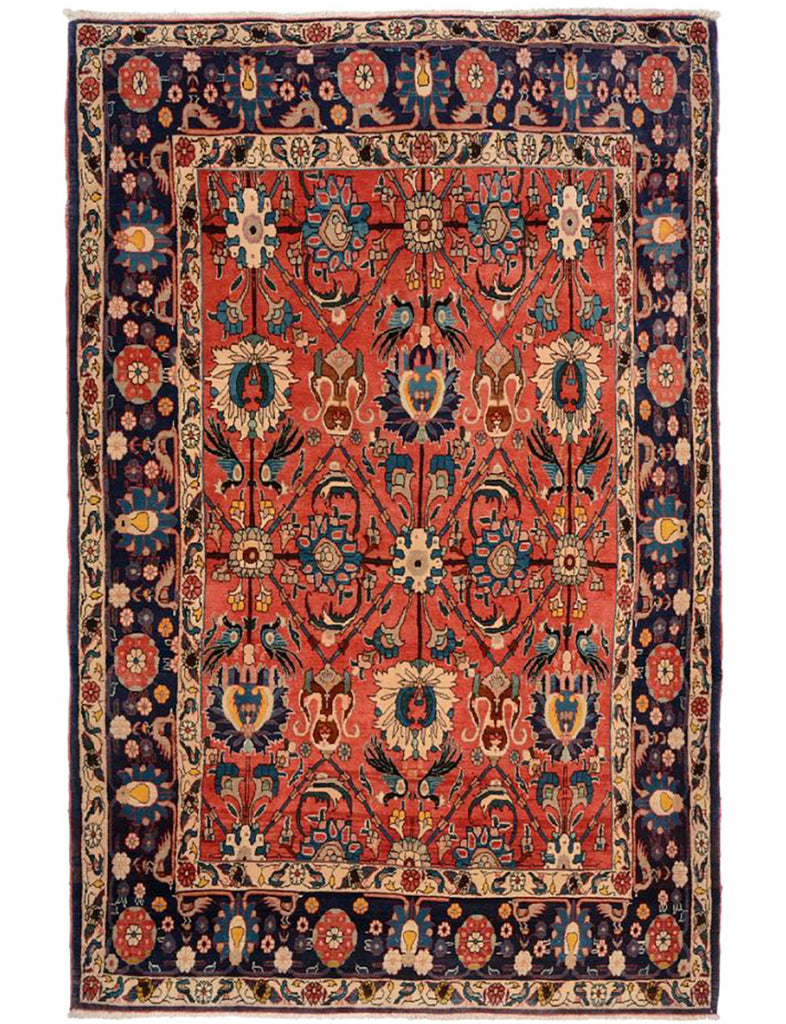 Antique Veramin Rug - THE HANDMADE RUG COMPANY