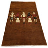 Village people - 183cm x 108cm (6ft x 3-7ft) - Nomadic and tribal rugs - THE HANDMADE RUG COMPANY