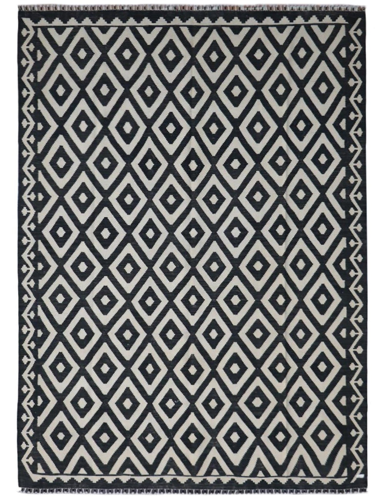 MONOCHROME KILIM - 297cm x 203cm (9'9 x 6'8) - KILIM COLLECTION - HANDMADE RUG COMPANY