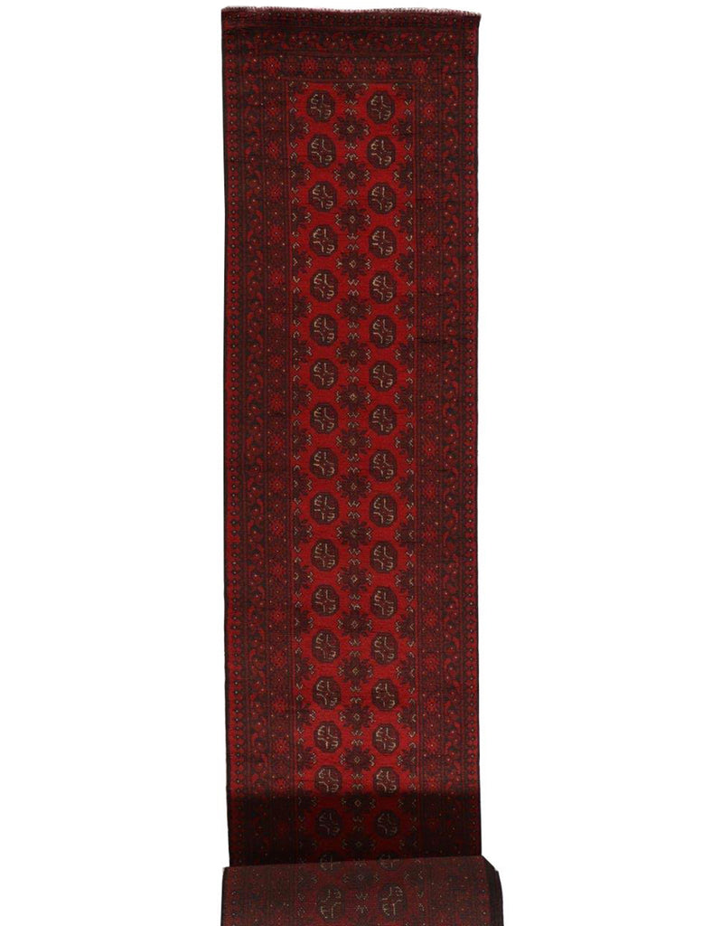 Extra Long Aqcha Runner - 776cm x 79cm (25-6ft x 2-7ft) -Extra Long Hall Runners - THE HANDMADE RUG COMPANY