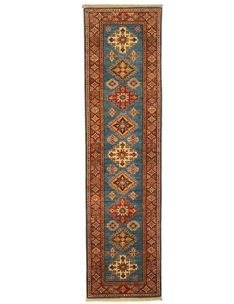 Kazak Runner - 309cm x 80cm (10-2ft x 2-8ft) - Hall Runner Collection - the handmade rug company