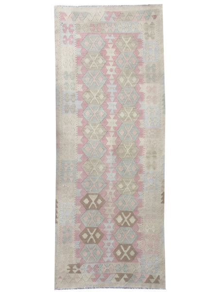 Natural Kilim Runner - 242cm x 87cm (7-11ft x 2-10ft) - Kilim Runner - THE HANDMADE RUG COMPANY