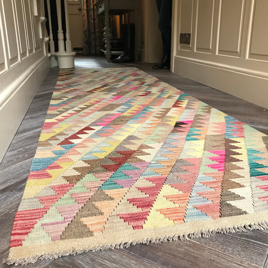 Natural dye kilim runner from The Handmade Rug Company