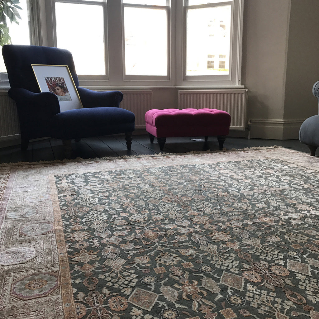 Handmade Wool and Silk Rug - The Handmade Rug Company