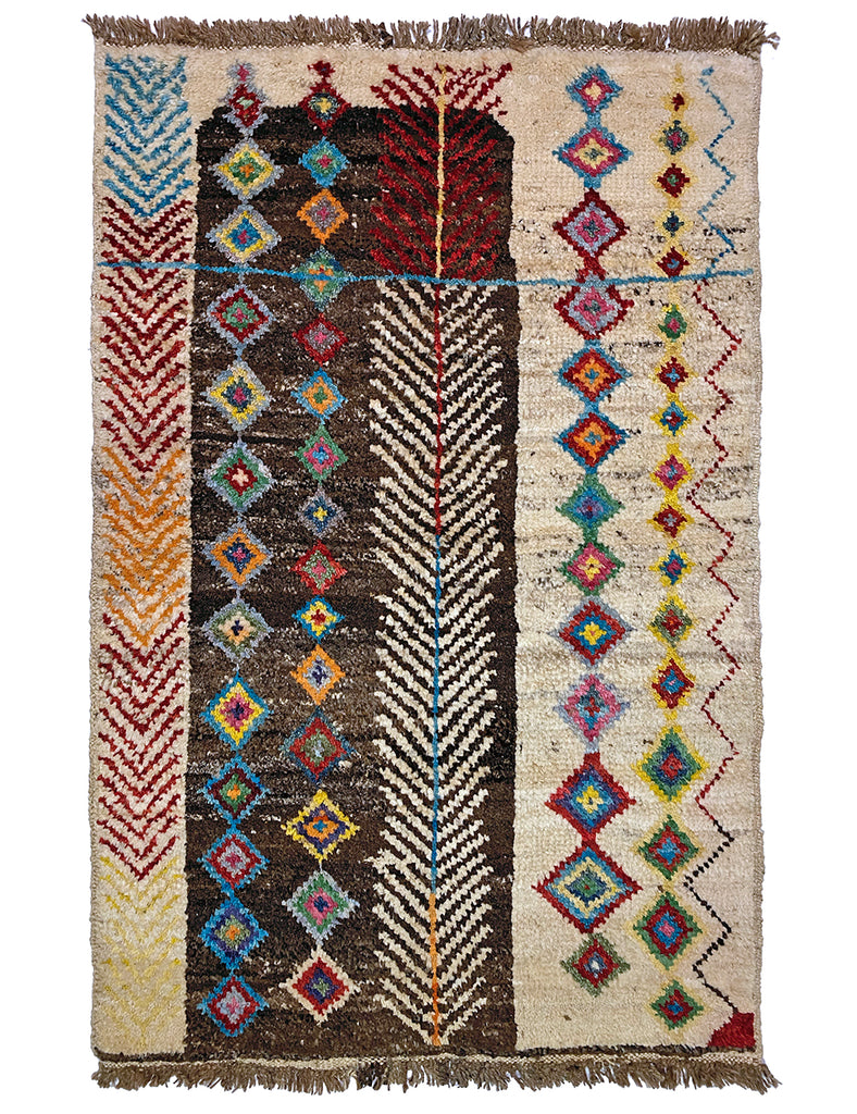 NOMADIC AFGHAN - 150cm x 93cm (4'11 x 3') - TRIBAL AND NOMADIC RUGS - HANDMADE RUG COMPANY
