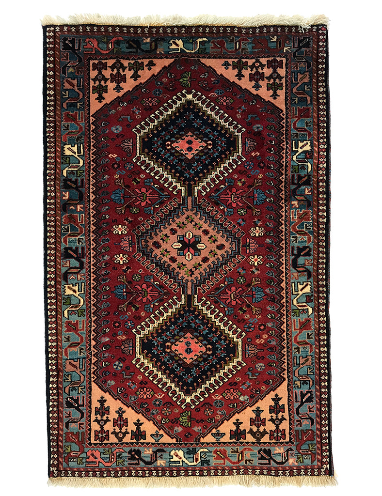 Yalameh Rug - 127cm x 82cm (4-1ft x 2-7ft) - Persian Rugs - THE HANDMADE RUG COMPANY