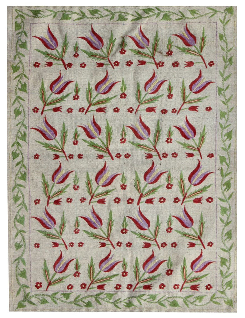 Suzani Rug - Tulip - Kilim Collection - THE HANDMADE RUG COMPANY