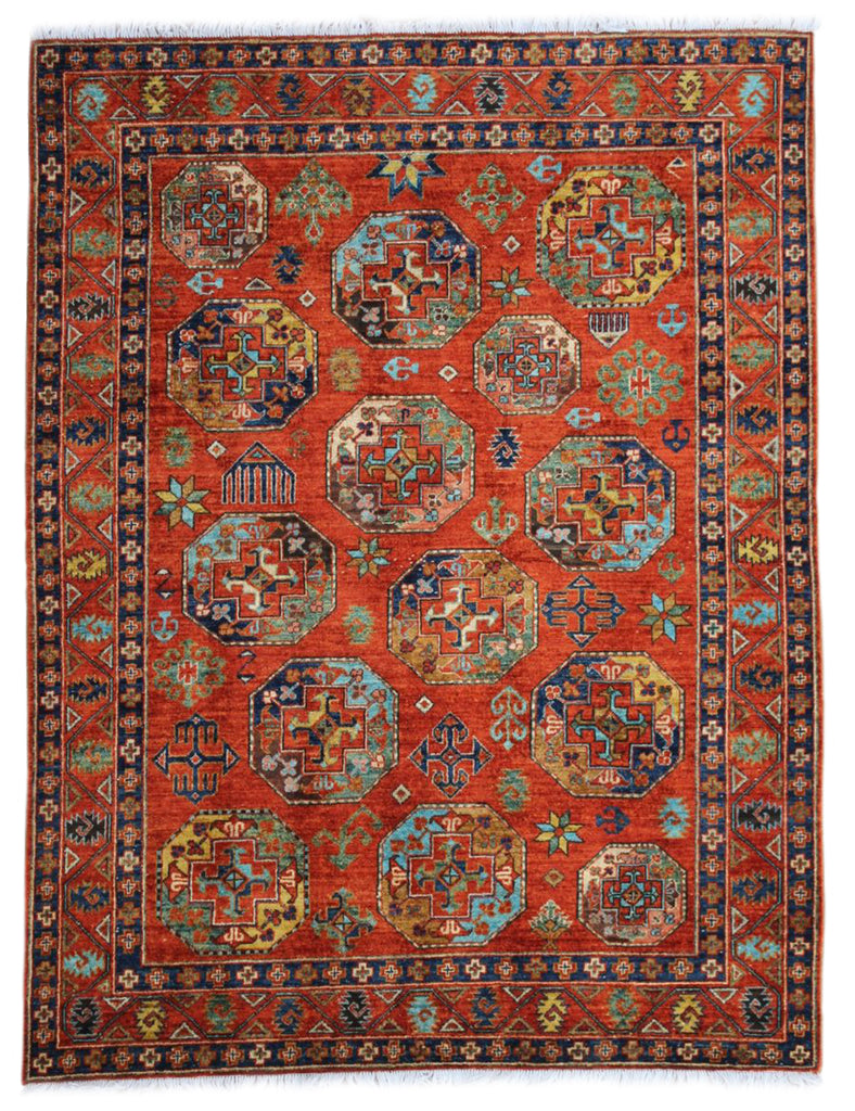 Turkmen Rug - 203cm x 158cm (6-6ft x 5-1ft) - Traditional and Tribal Rugs - THE HANDMADE RUG COMPANY