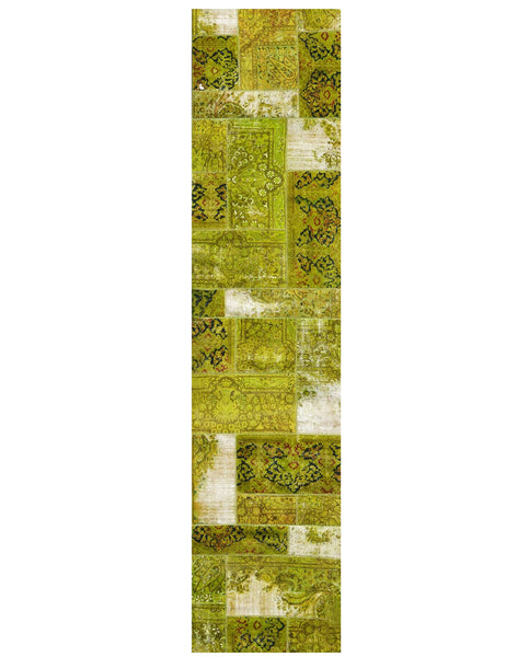 Yamamak Runner - 380cm x 90cm (12-5ft x 3ft) - Patchwork Hall Runners - Yamamak - THE HANDMADE RUG COMPANY