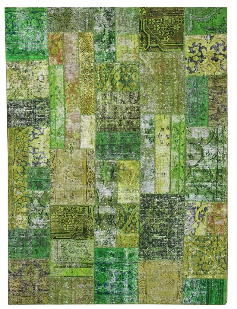 Yamamak Rug - 206cm x 157cm (6-9ft x 5-2ft) - Patchwork Rugs - THE HANDMADE RUG COMPANY