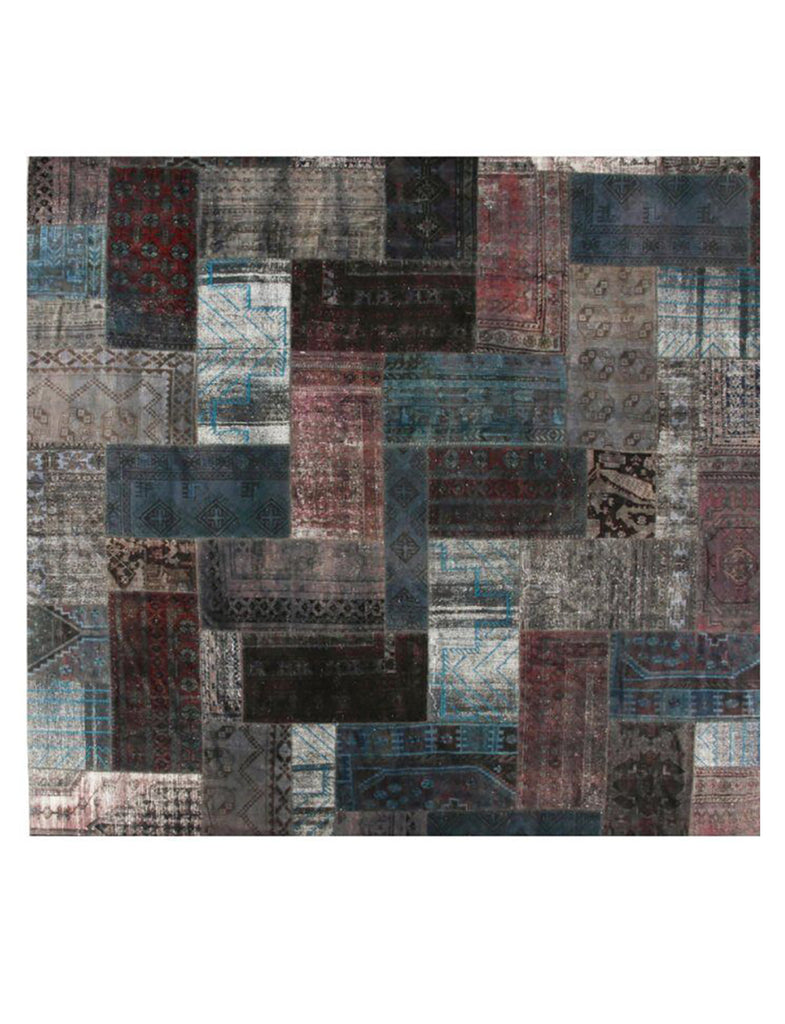 Yamamak Square (fine) - 408cm x 408cm (13-4ft x 13-4ft) - Square Rugs - Patchwork - THE HANDMADE RUG COMPANY